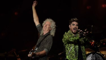 Queen performed mega-hits We Are The Champions and We Will Rock You.