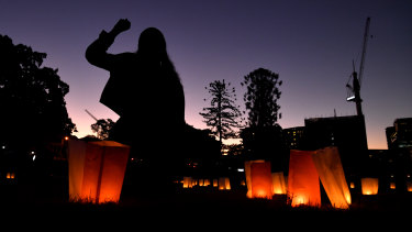 A candlelight vigil was held in Musgrave Park on Wednesday night.