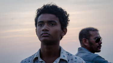 Sarm Heng plays a young boy who thinks he is escaping to freedom in Buoyancy.