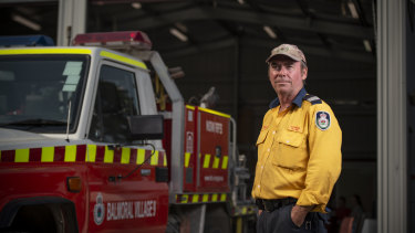 "Balmoral village RFS Captain Brendan O'Connor at the volunteers' fire shed. ""It was a time bomb waiting to go off."""