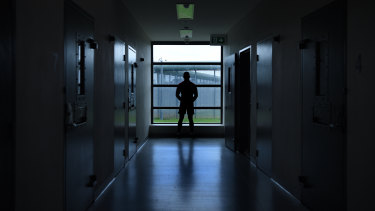 An inmate inside the Cobham Juvenile Justice Centre.