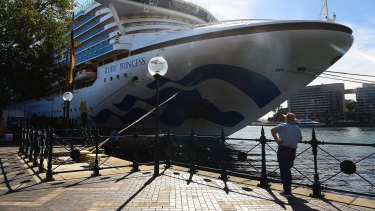 The Ruby Princess docked in Sydney on Thursday.