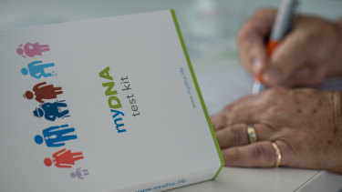 A testing kit from MyDNA.