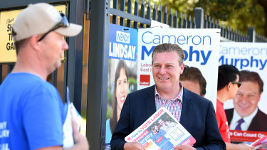 Cameron Murphy admits a Labor win in East Hills would be 'improbable' but has not conceded defeat.