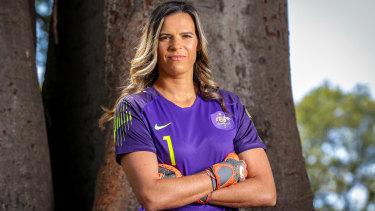 Matildas goalkeeper Lydia Williams.