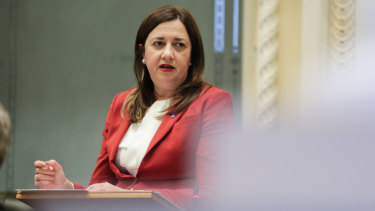 Queensland Premier Annastacia Palaszczuk in Parliament this week.