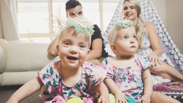 Twins Dahli and India Greenhalgh each weighed less than a kilo when they were born in January, 2018. Their parents Luke and Terri will be forever grateful for the help they received from the Neonatal Intensive Care Unit at the Canberra Hospital.
