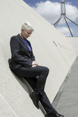Kerryn Phelps at Parliament House in Canberra.