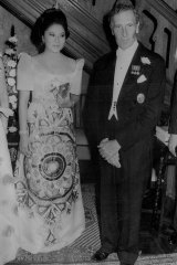 Among the guests at the 1973 Opera House Ball at Fairwater was Imelda Marcos, wife of Philippines president Ferdinand, pictured with Sir Warwick.