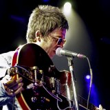 Noel Gallagher, on stage with his High Flying Birds in 2015, around the time of their second album, Chasing Yesterday.
