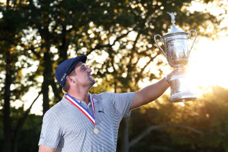 Bryson DeChambeau after winning the 120th US Open Championship at Winged Foot.