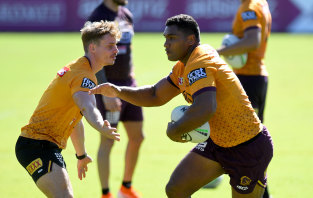 The Broncos want to sack Tevita Pangai jnr but he doesn't want to leave the club.