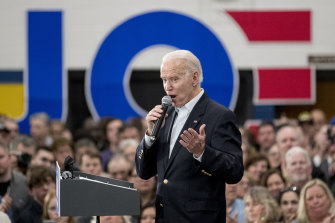 Democratic presidential candidate Joe Biden is yesterday's man for many younger voters.