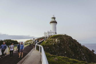 Byron Bay in northern NSW is one beneficiary of Queensland's hard border closure.