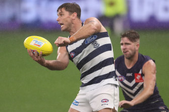 Geelong are considering appealing Tom Hawkins' one-match ban.