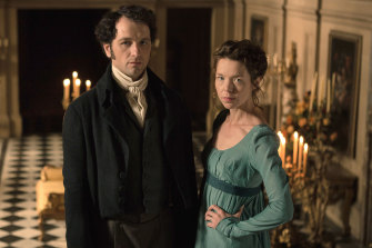 Darcy (Matthew Rhys) and Elizabeth (Anna Maxwell Williams) starred in Death Comes to Pemberley.
