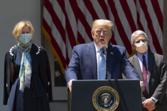 US President Trump has long dismissed the need for him to wear a mask in public.