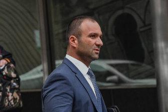 Raman Shaqiri at court in 2018.