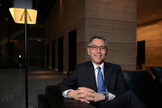 """BHP chief Mike Henry says the merger of oil and gas assets with Woodside will allow BHP to focus on what he likes to call """"future facing"""" commodities such as potash, nickel and copper as well as relying on its  staple, iron ore."""
