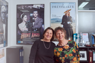 """Rosalie Ham and Sue Maslin: """"I see the film as a bit of a gift, but the book was also a gift to her."""""""