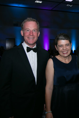 "Lee with former Tasmanian premier Will Hodgman, who describes her as  ""a force of nature""."