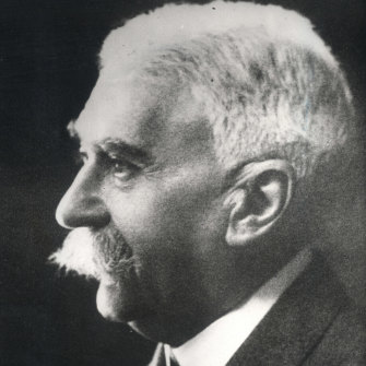 Baron Pierre de Coubertin, 1863-1937, who included artistic pursuits when he revived the Olympics.