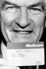 Bob Hawke issued with his Medicare card on October 20, 1983.