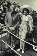 John Coburn and his wife Barbara at the opening of the Opera House on October 20, 1973.