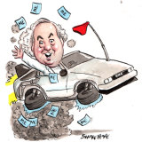 Former Eden-Monaro MP Peter Hendy wants Arthur Sinodinos' Senate vacancy. Illustration: John Shakespeare