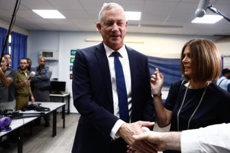 Netanyahu is facing a stiff challenge from retired military chief Benny Gantz.