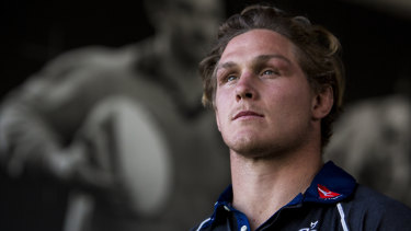 Five more years: Michael Hooper will remain a Waratah and Wallaby until the end of 2023.