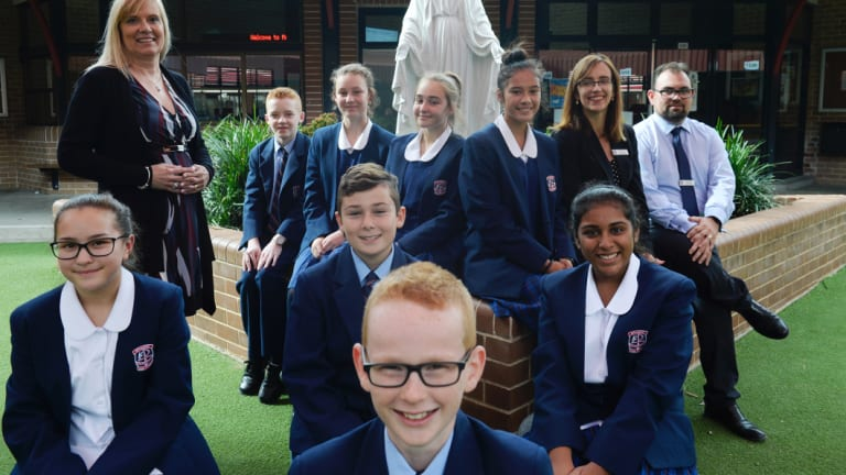 Students at McCarthy Catholic College said the NAPLAN reading exam was ''quite relaxing''.