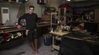 Steve Jackson is the owner of Sydney Sailmakers in Drummoyne.