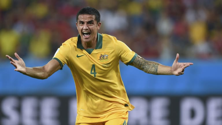Lethal: Cahill is one of just 61 men to score 50 times for their country.