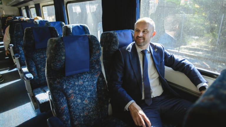ACT Chief Minister Andrew Barr has been pushing for faster rail services between Canberra and Sydney.