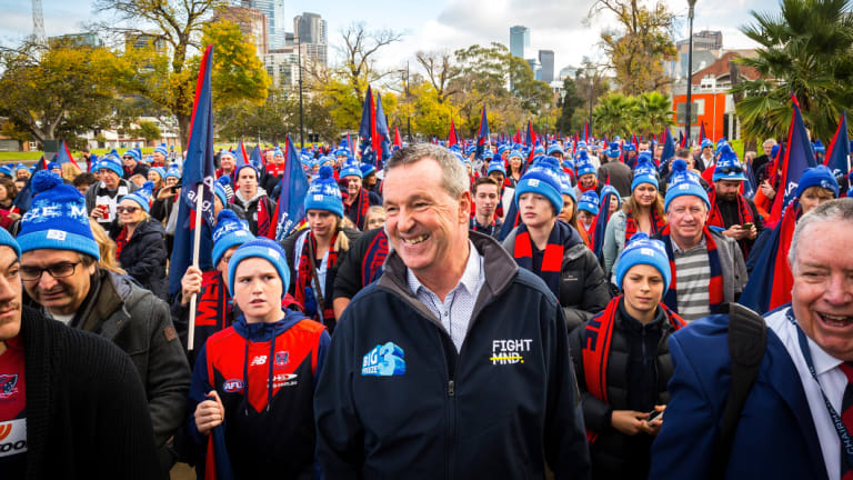 Neale Daniher spoke to the Demons players this week ahead of their final against Hawthorn.