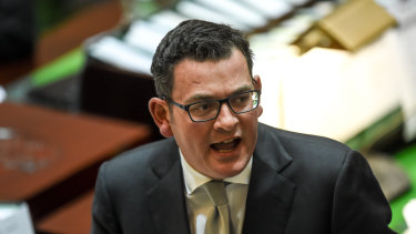 Daniel Andrews in Parliament.