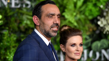 Former Sydney Swans AFL footballer Adam Goodes and wife Natalie Croker are new parents.