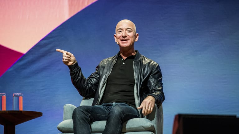 Amazon became the history's second ever trillion dollar company this week, and its founder Jeff Bezos (pictured) is the world's richest person.