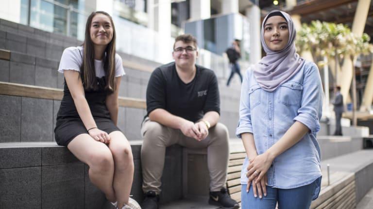 UWS students Hannah Lee, Liam Golightly, and Nilofar Sadeqi, were all admitted through the True Rewards program.