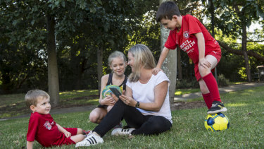 Alicia Ditton is using TeamStuff and WhatsApp to manage sport for Elodie, 9, Angus, 8, Miles, 3, and herself.