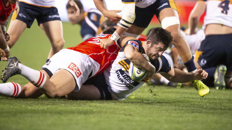 Rookie Brumbies hooker Connal McInerney worked tirelessly for 80 minutes against the Sunwolves.