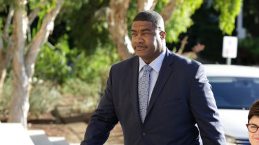 Chevron Australia's managing director, Al J. Williams, arrives at WA's Parliament House for a meeting with Premier Mark McGowan and other LNG company bosses.