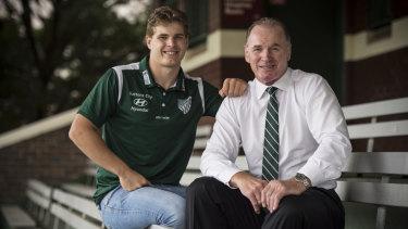 Like father, like son: Christian and Simon Poidevin.