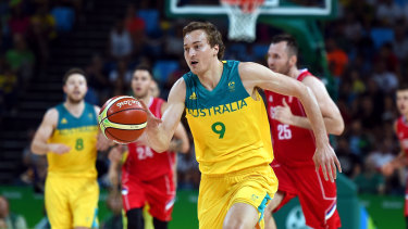 Ryan Broekhoff in action for the Boomers.