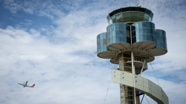 Sydney Airport's control tower was evacuated on Friday.