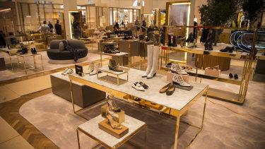 The new David Jones shoe floor features 85 brands.