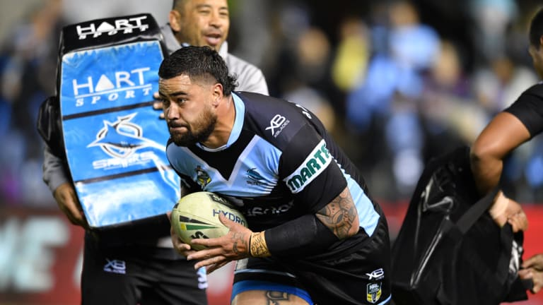 Fired up: Andrew Fifita has made headlines for all the wrong reasons in the past week.