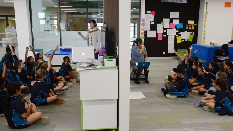 Inside an adaptive classroom at St Luke's in Marsden Park.