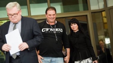 John Setka outside court on Wednesday.